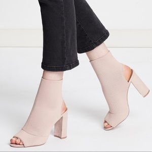 Topshop NWT Sister Sock boots in blush pink